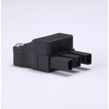Quick-plug RF coaxial connector