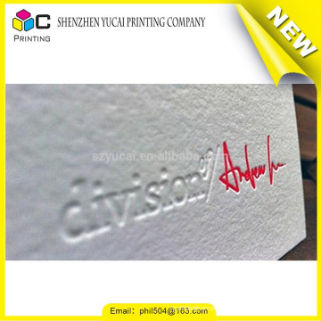 Silk screen embossing make business cards for free