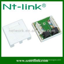 Dual port Cat5e Rj45 plastic connection box