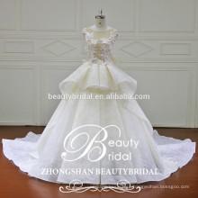 Hot sale mais novo design de moda vestido de noiva de luxo vestido de noiva com vestido de rendas de rendas em 3D 3D para mulheres nupcial
