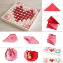 Caja de bolas de chocolate DIY y papel de paquete con bandeja