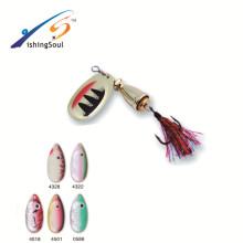 SPL020 ventas calientes aparejos de pesca cebo de spinning de cebo de metal artificial de pesca
