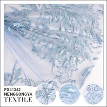 Oem Professional tissu de broderie polyester confortable bleu