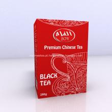 Chá preto tradicional processo artesanal