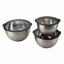 Edelstahlschüssel für Salat vorbereiten Spülmaschinenfest