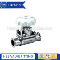 Mini type food grade sanitary stainless steel clamp diaphragm valve