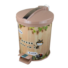 Plastic Cartoon Printed Foot Pedal Waste Bin (FF-0431-1)