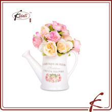 Dolomita riego puede forma flor olla con el patrón de calcas hecho en Chaozhou