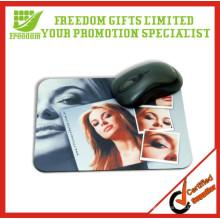 Tapis de souris fait sur commande imprimé polychrome de cadeaux de logo de promotion
