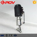 Sanitary weld pneumatic plastic angle valve
