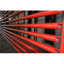Tubería de acero pintada roja UL de la lucha contra incendios