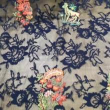 Роскошное кружевное платье с цветочной вышивкой из полиэстера