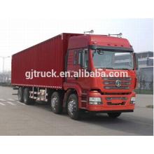 Shacman marca 8X4 drive van caminhão para 10-48 metro cúbico