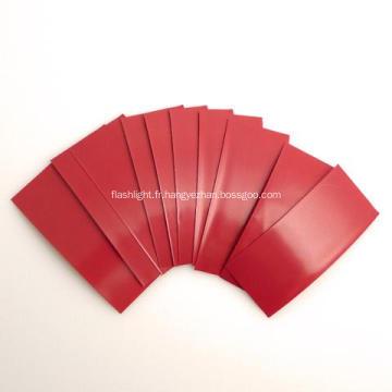 Paquet de batterie de la gaine 18650 de la gaine thermorétractable de PVC