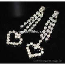 2015 Promoción en forma de corazón Pendientes de perlas de Crystal Drop
