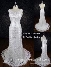 """высокий вырез """"лодочкой"""" небольшой хвост кружева русалка милая свадебное платье"""