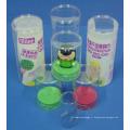 Boîte ronde en plastique de cylindre fait sur commande (PVC 001)