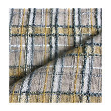 Factory price designer white winter garment tweed double sided woolen cheap tweed fabric for female suiting