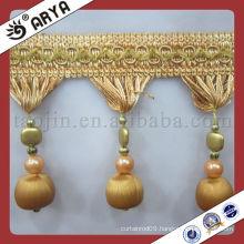 Wooden Trim Tassel Fringe, Curtain Accessory of Tassel Fringe