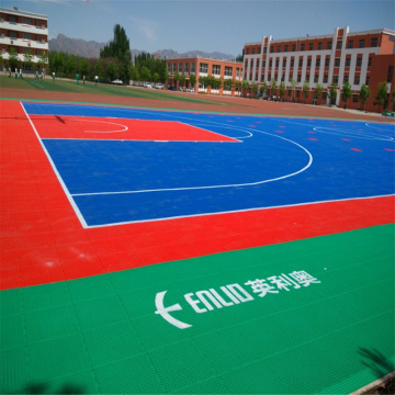 Enlio Basketball Flooring กลางแจ้ง