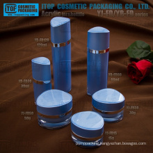 Special recommended double layers high gloss cosmetics packaging crystal 1st grade acrylic plastic jar and bottle