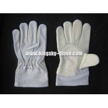 Gants de travail d'hiver doublés de cuir de vache Thinsulate doublés-9983