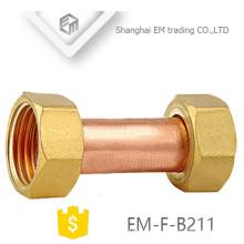 EM-F-B211 rosca fêmea igual tubo de tubo de cobre