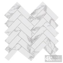 Marmor- und Glasmosaikfliesen für die Wanddekoration