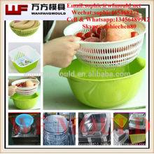 OEM Custom Plastic fruit Washer basket mould/Custom design plastic injection fruit Washer basket mold