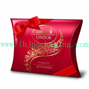 Luxury Custom Paper Packaging Pillow Box with Ribbon