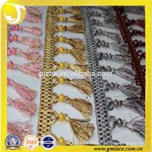 Franja de borla encantadora para cortina y decoración del hogar