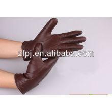 New elegant genuine men red leather gloves