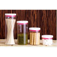 Pot de stockage de nourriture en verre à haute teneur en borosilicate