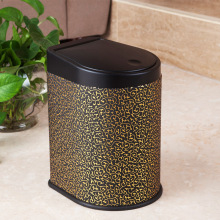 Leather Covered Press Dust Bin for Guestroom (H-3LJ)