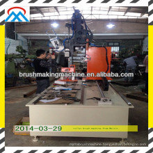 roller brush drilling and tufting machine