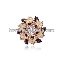 Luxus Revers Blume Pin für Anzüge Gold überzogen Hochzeit Brosche für Frauen