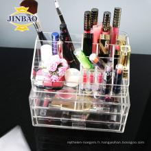 Jinbao acrylique cosmétiques étagère affichage conception fabrication vitrine 3mm