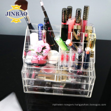 Jinbao Acrylic Cosmetics shelf display design manufacture showcase 3mm