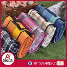 Cobertor de piquenique impermeável acrílico colorido de alta qualidade estilo maleta