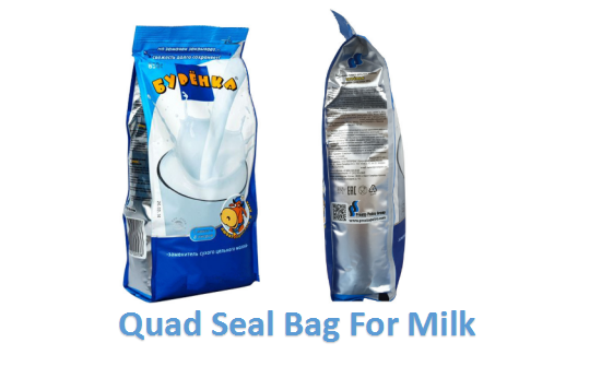 Quad Seal Bag For Milk