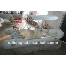CE rib520 fiberglass with pvc or hypalon inflatable boat 60hp engine