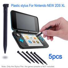 Stylet en plastique Stylo de jeu Console Écran Tactile pour Nintendo Nouveau 2DS XL / LL Console de Jeu Noir Blanc