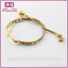 Alibaba hot sale beautiful rope cross bracelets