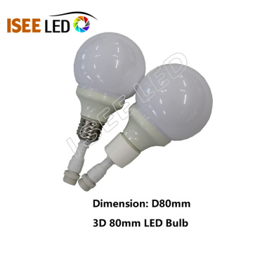 80mm DMX RGB Led 전구 램프