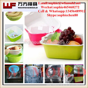 OEM Custom plastic injection mould for Fruit and vegetable basket/Mold for Fruit vegetable basket