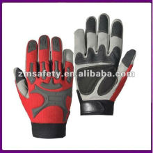 Shock Proof Leather Mechanic Grip Glove With Knuckle Protection ZMR465