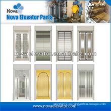 Panel de puerta de ascensor de acero inoxidable estándar, levantar la puerta del coche
