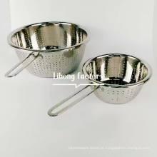 Aço inoxidável 304 Colander Set / Kitchen Acessórios Cesta De Armazenamento / Frutas Legumes Cesta De Lavagem