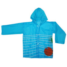Blue Children's Pvc Raincoat