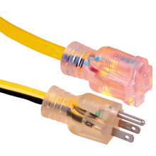 Manufacturer Outdoor Extension Cord with Lighted End Heavy Duty Custom length, Color, ETL Listed